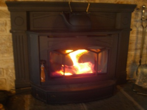 Best alternate source of heat is the woodstove.