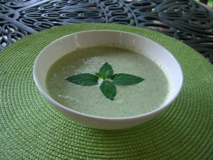 Cucumber Pear Gazpacho with Mint
