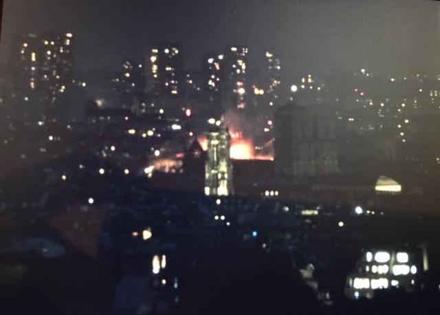 Addison Mueller's photo of Notre Dame burning
